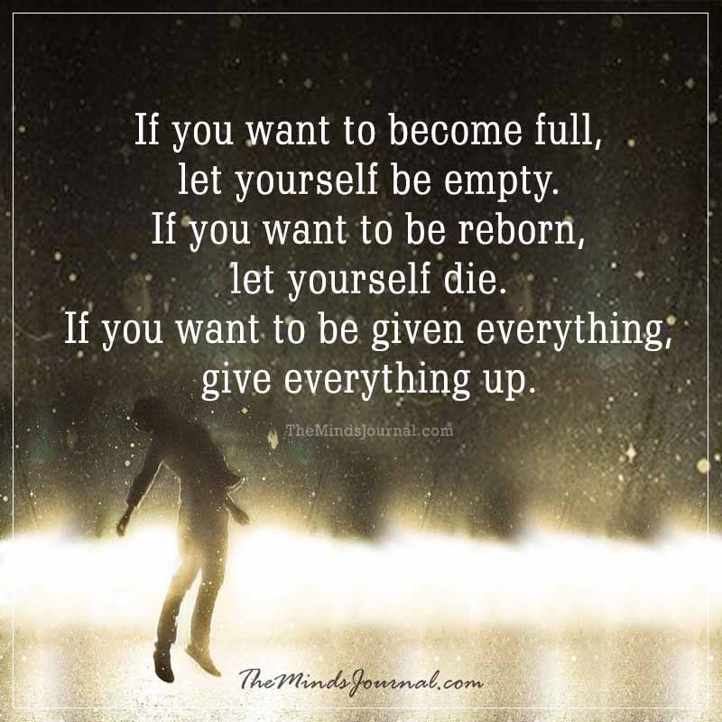If you want to become full