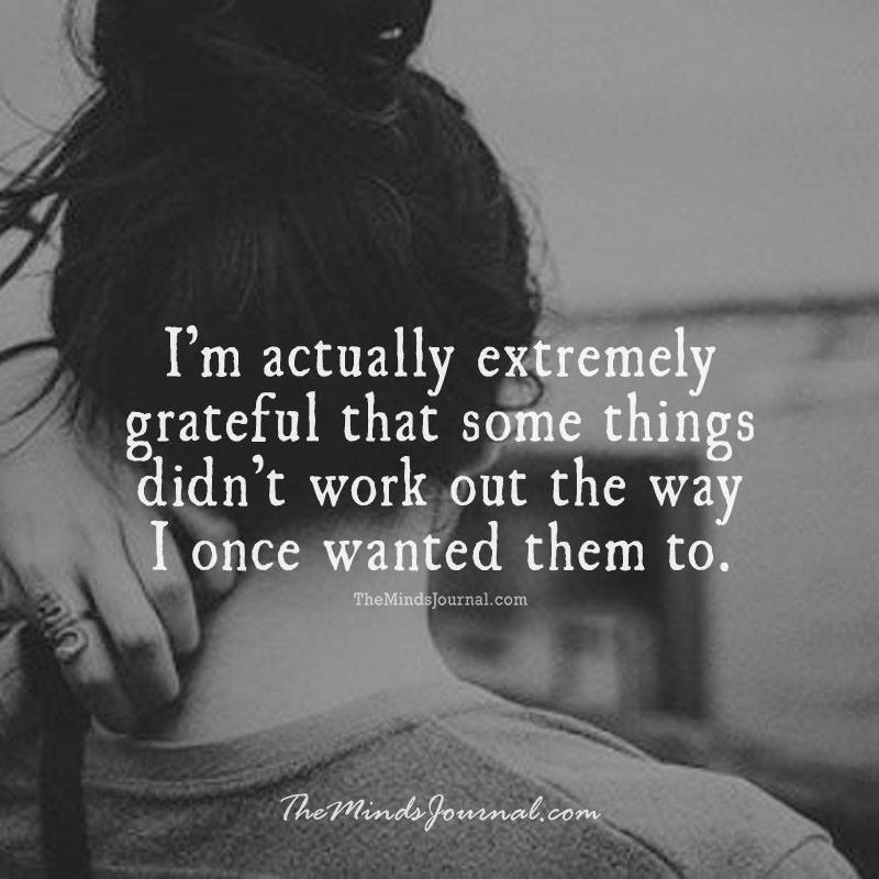 I'm extremely grateful