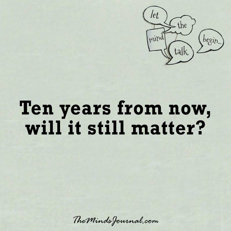 Ten years from now
