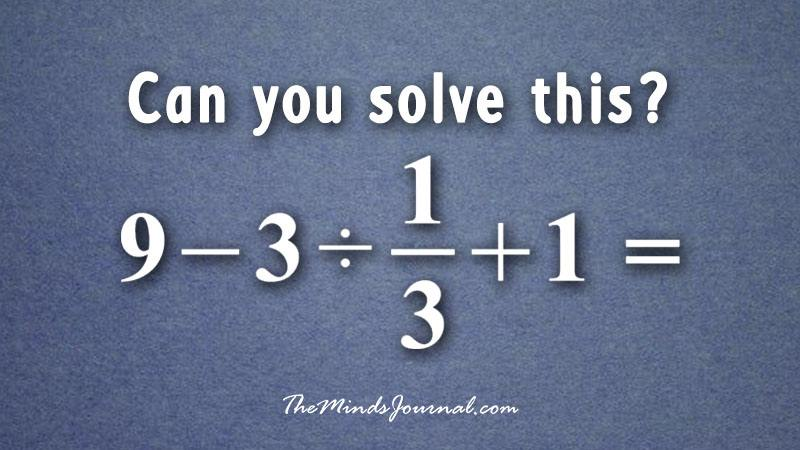This Basic Math Problem Went Viral Because Most People Can't Solve It - Mind Game