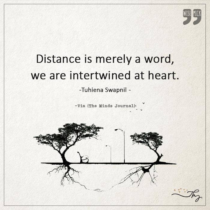 Distance is merely a word