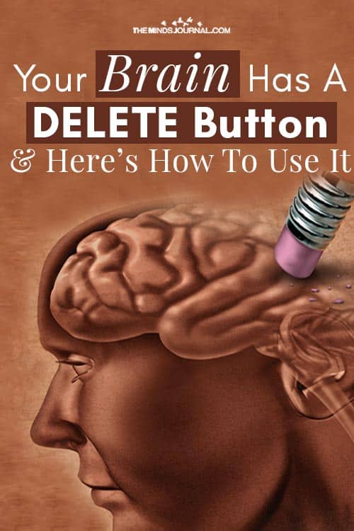Brain Has A DELETE Button Use It pin