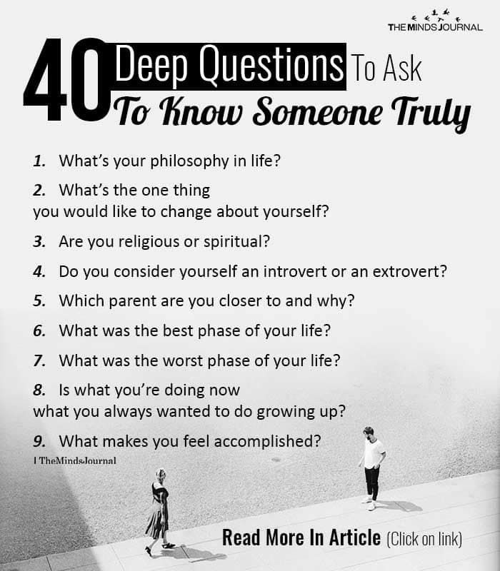 Deep Questions To Ask To Know Someone Truly
