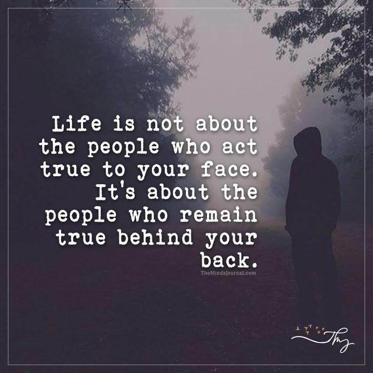 Life is not about the people who act