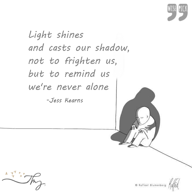 Light shines and casts our shadows