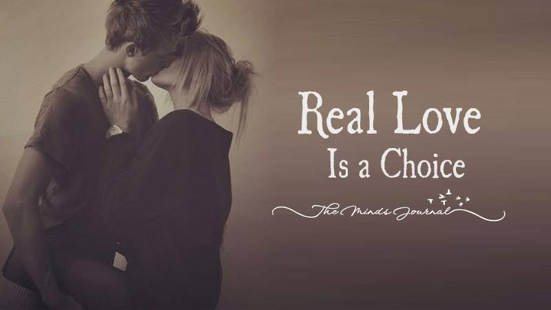 Real Love Is a Choice