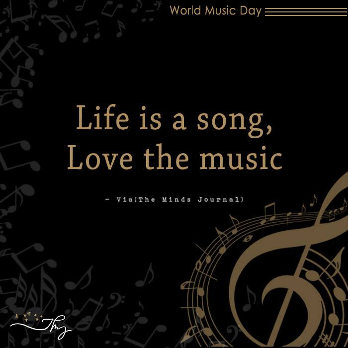 Music washes away from the Soul, the dust of everyday life 10