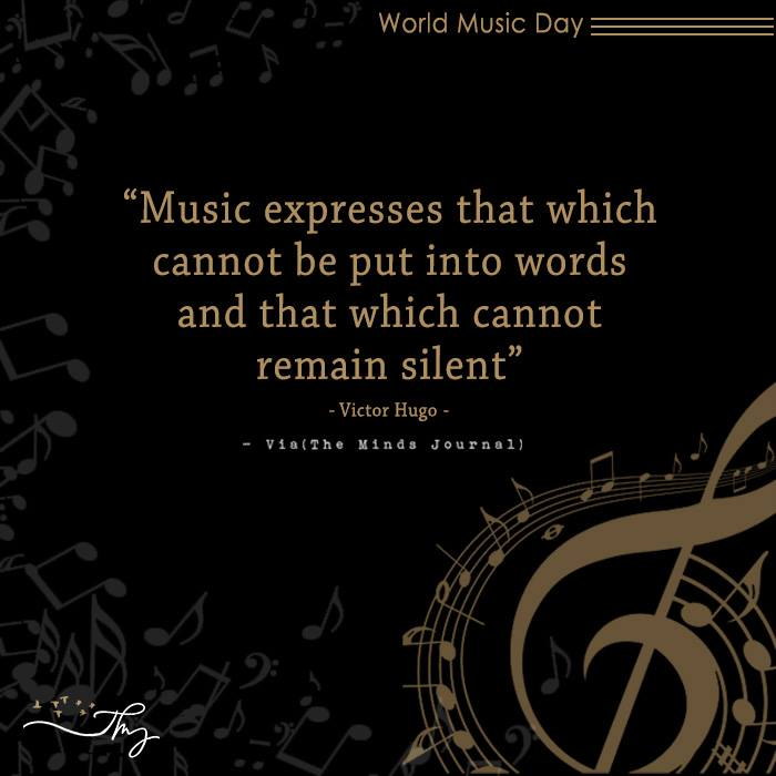 Music washes away from the Soul, the dust of everyday life 14