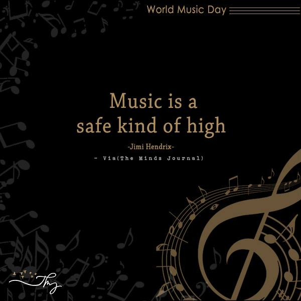 Music washes away from the Soul, the dust of everyday life 4