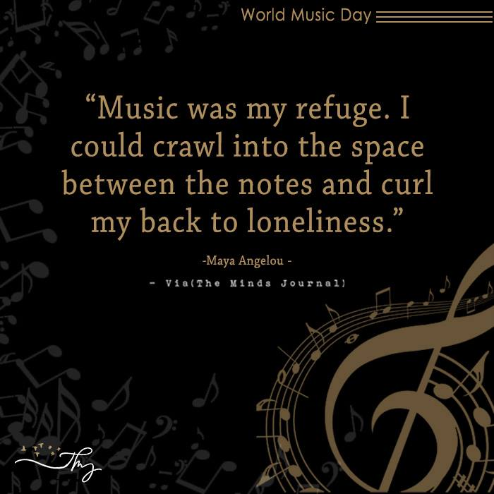 Music washes away from the Soul, the dust of everyday life 5