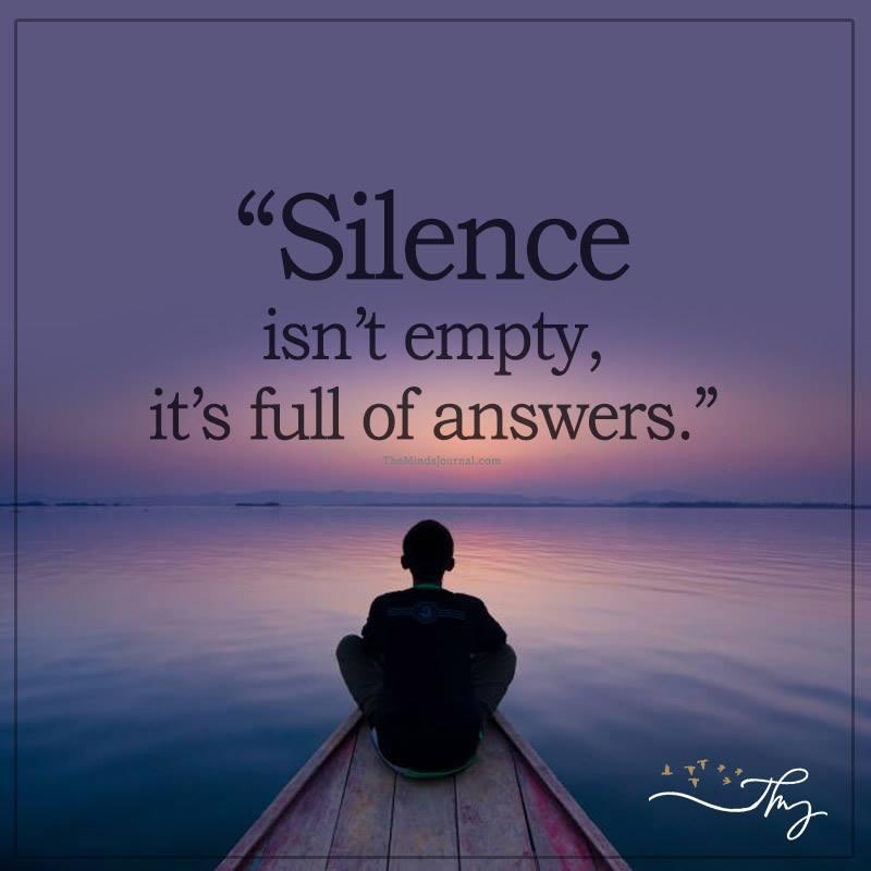 Silence isn't empty