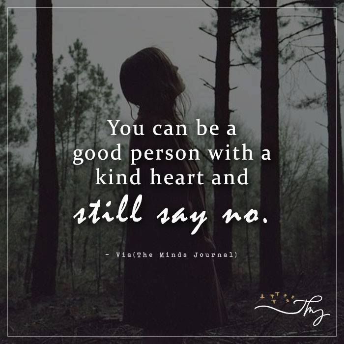 You can be a good person