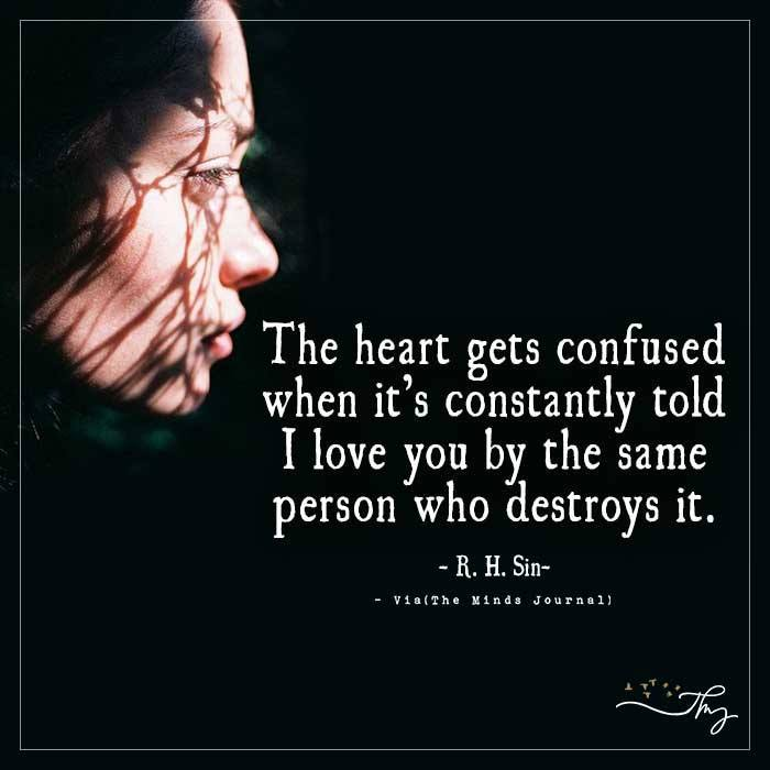 The heart gets confused
