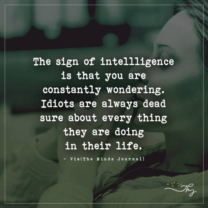 The sign of intelligence