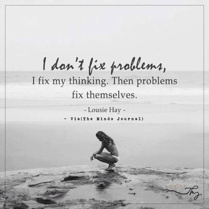 I don't fix problems
