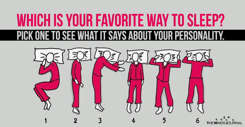 Which is your favorite way to sleep? Pick one to see what it says about your personality.