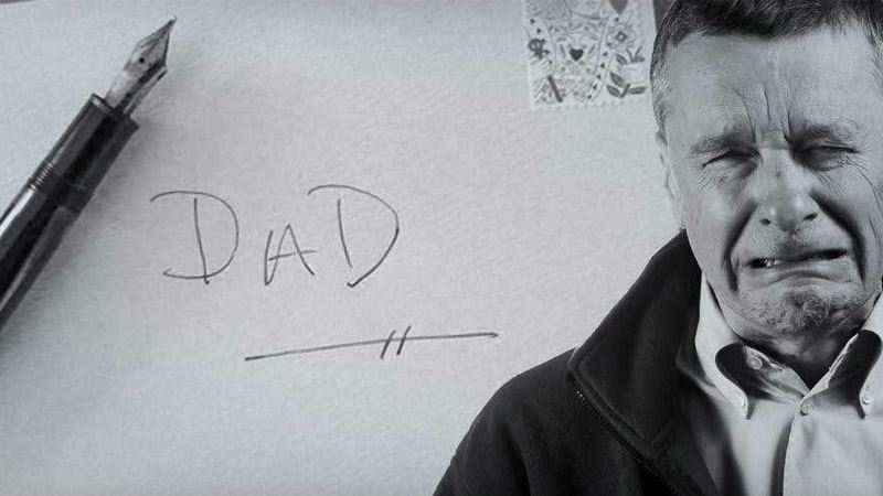 The father sees a clean room and a made bed, Seconds later he finds a letter and is devastated.