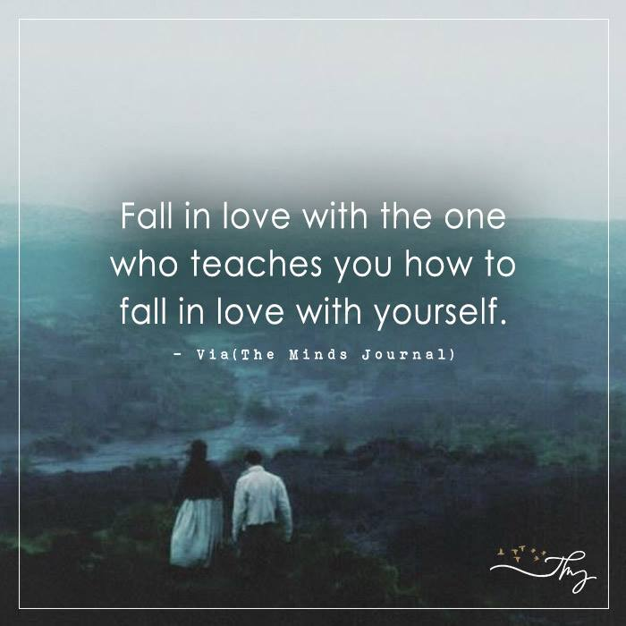 Fall in love with the one