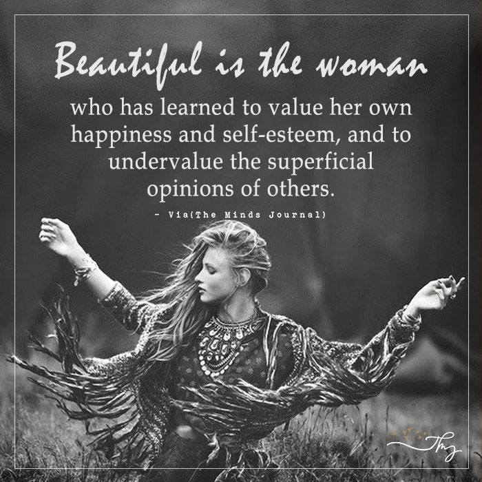 Beautiful is the woman