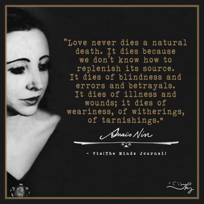 Essayist and Memoiris Anais Nin - Beautiful Words 3