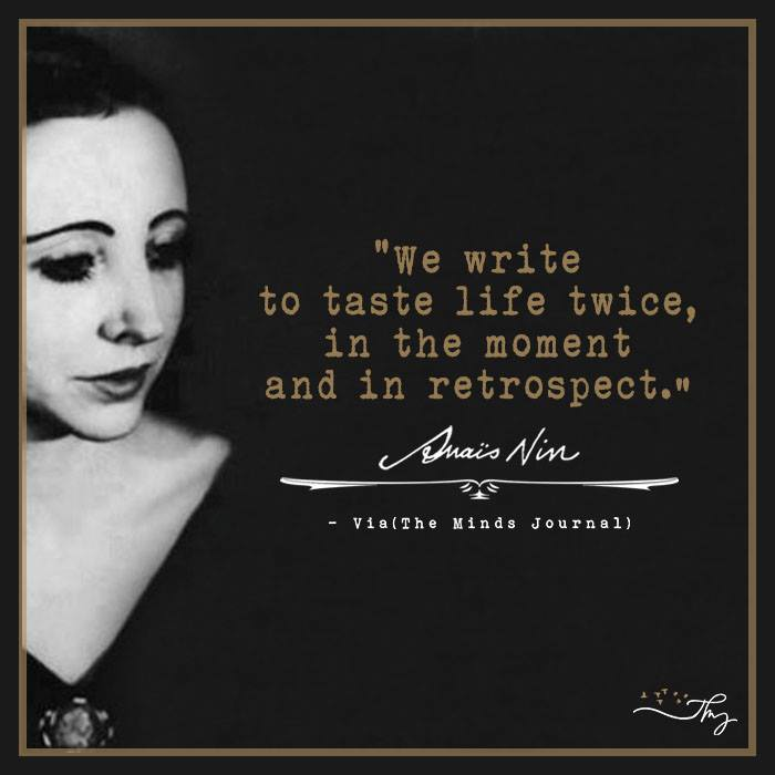 Essayist and Memoiris Anais Nin - Beautiful Words