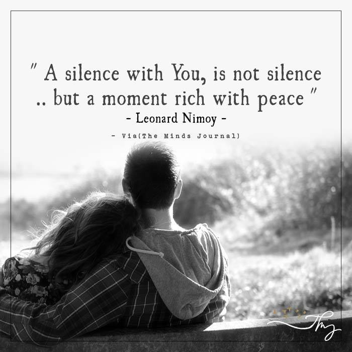 A silence with you