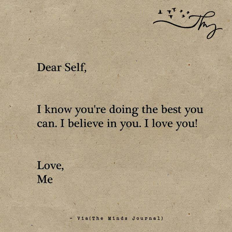 Dear Self The Minds Journal
