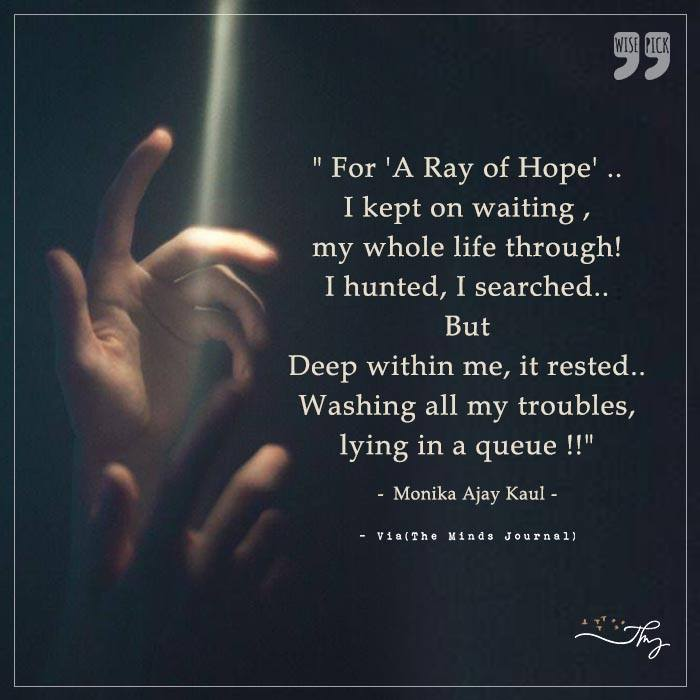 For A Ray of Hope