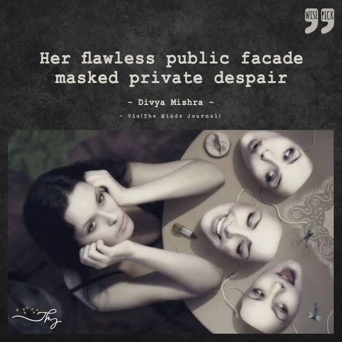 Her flawless public facade