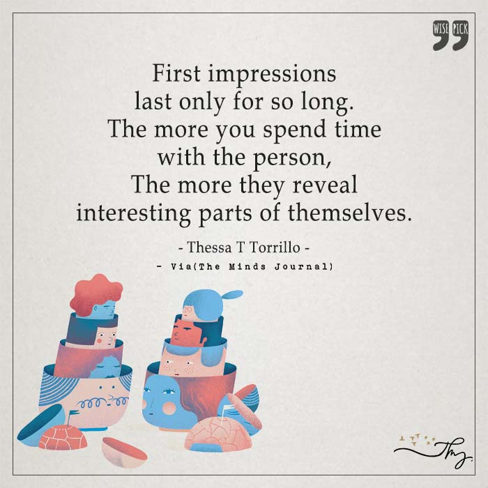First impressions last only for so long.