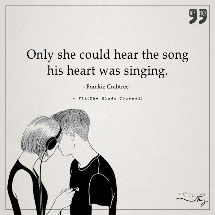 Only she could hear the song