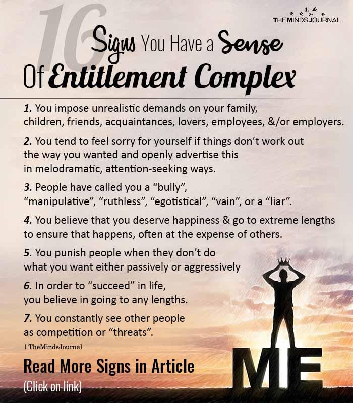 Entitlement Complex Signs