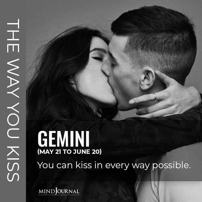 Gemini kiss every way possible