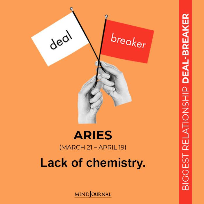 Lack of chemistry