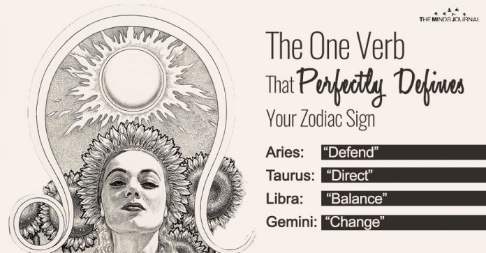 verb that defines your zodiac
