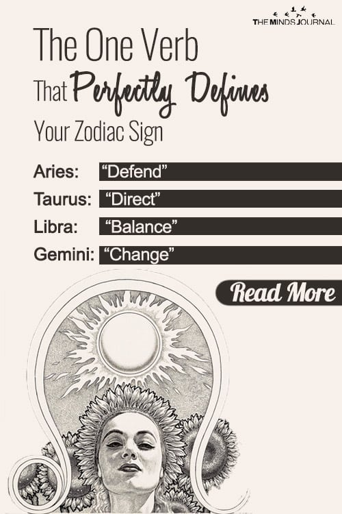 verb that defines your zodiac pin