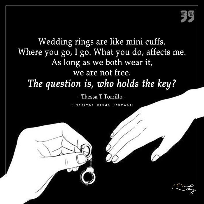 Wedding rings are like mini cuffs.