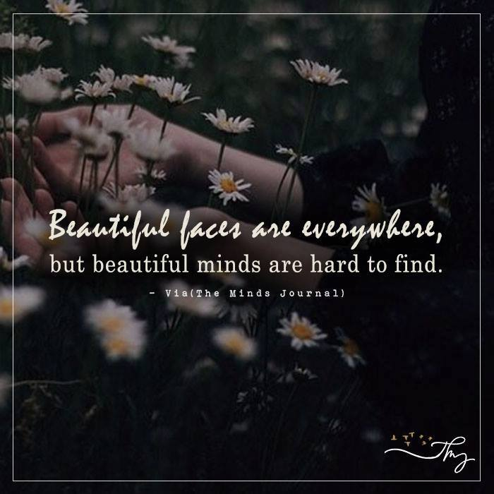 Beautiful faces are everywhere