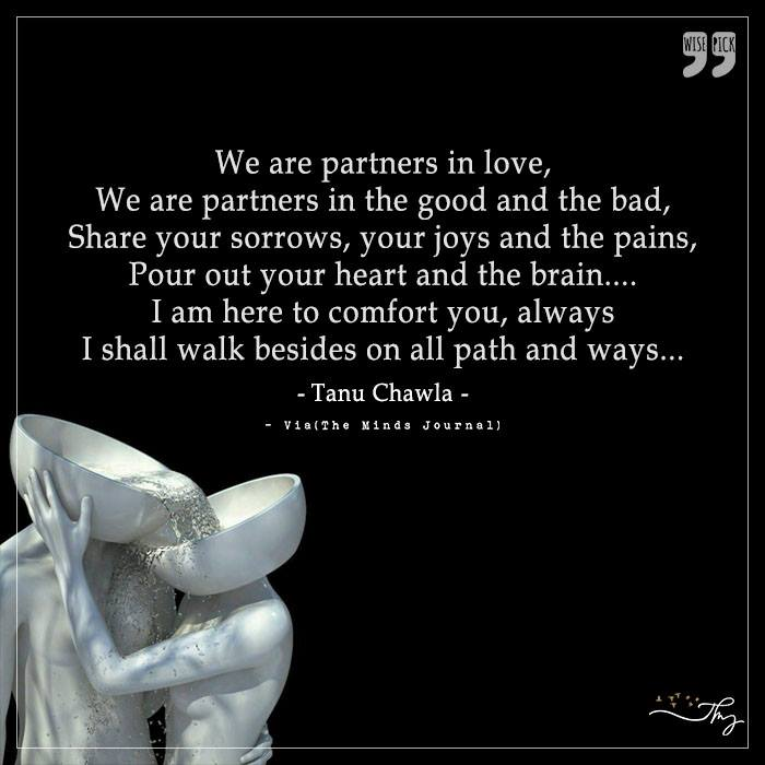 Share your sorrows, your joys and pain
