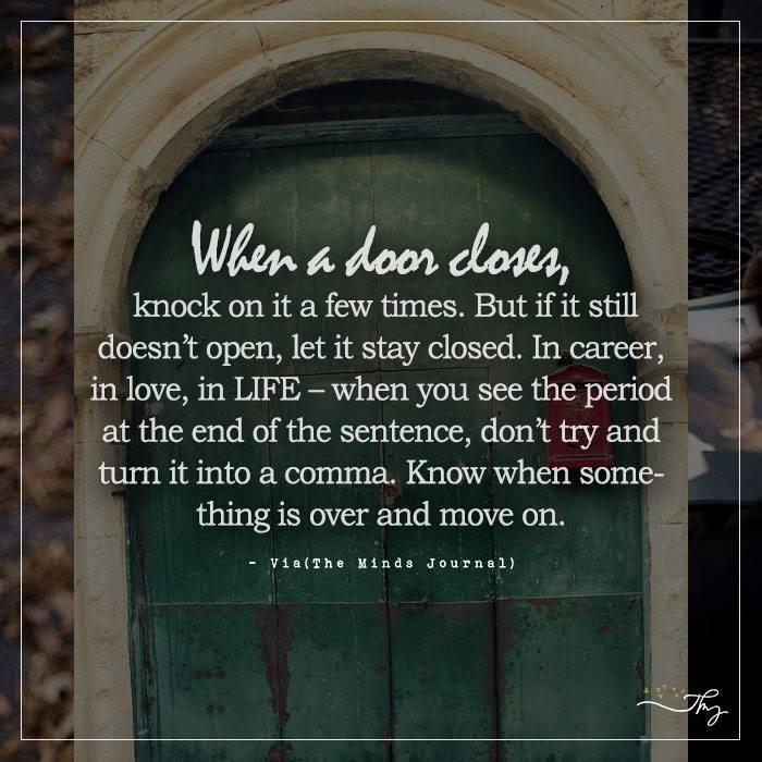 When a door closes