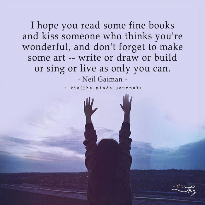 I hope you read some fine books