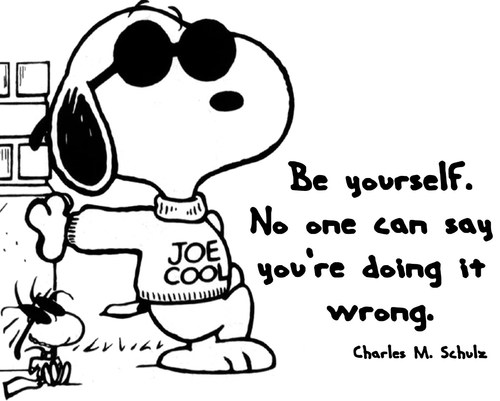 Snoopy quote on being you