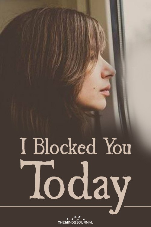 Why I Blocked You Today