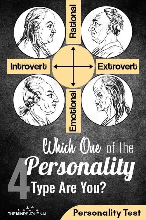Which One of The four Personality Type Are You pin