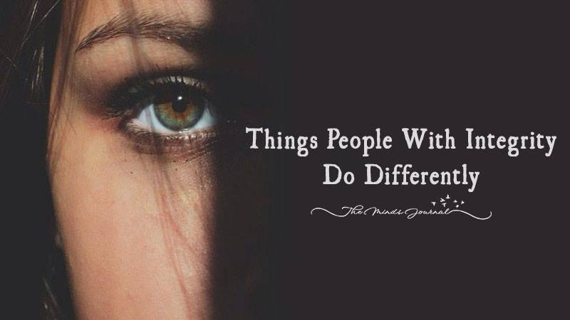 Things People With Integrity Do Differently