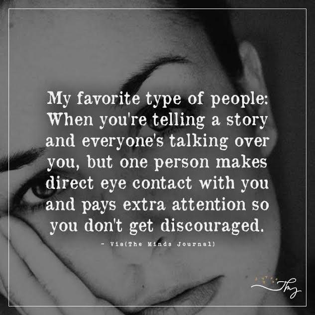 My favorite type of people