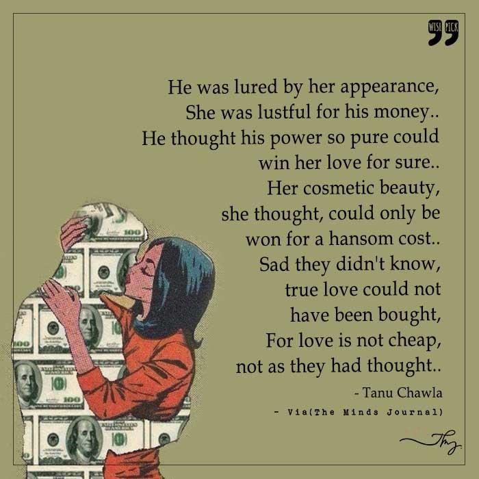 Love is not cheap