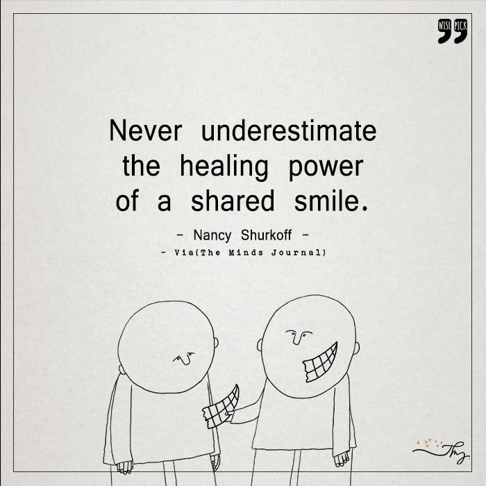 The healing power of a shared smile