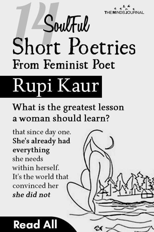 SoulFul Short Poetries From Feminist Poet Rupi Kaur pin