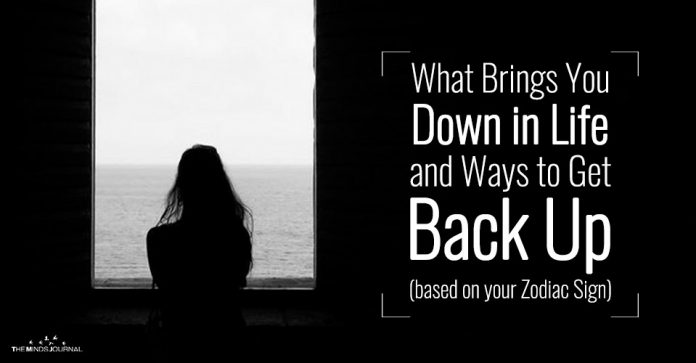 What Brings You Down in Life and Ways to Get Back Up